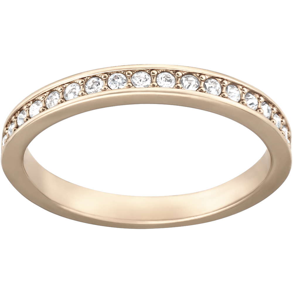 Rare Ring, White, Rose Gold Plated