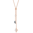 Swarovski Symbolic Y Necklace, Multi-colored, Rose-gold tone plated