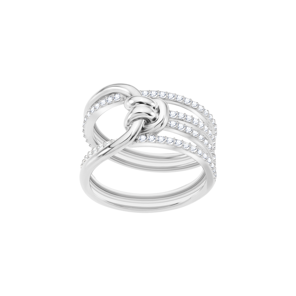 Lifelong Wide Ring, White, Rhodium Plating