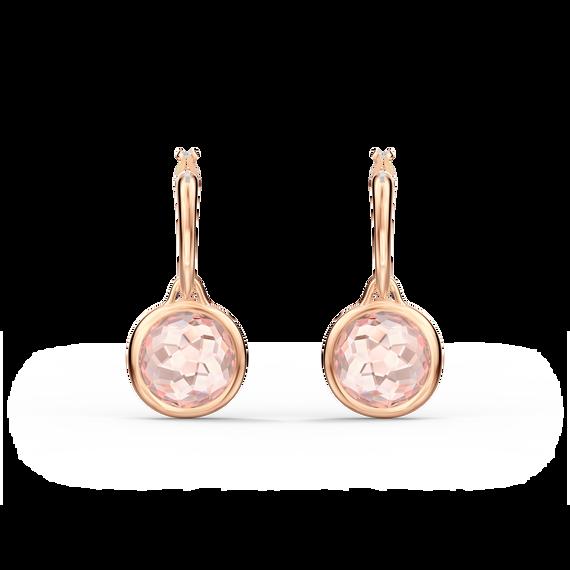 Tahlia Mini Hoop Pierced Earrings, Pink, Rose-gold tone plated