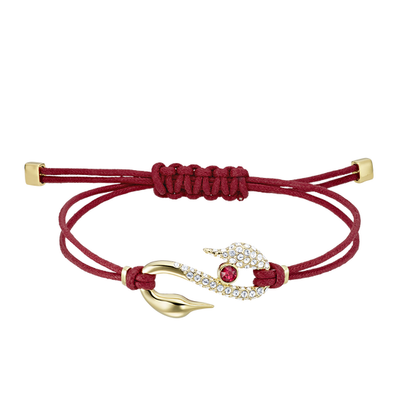Swarovski Power Collection Bracelet, Red, Gold-tone plated