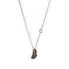 Naughty Necklace, Black, Rose-gold tone plated
