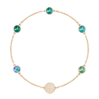 Swarovski Remix Collection Green, Multi-Colored, Rose Gold Plating