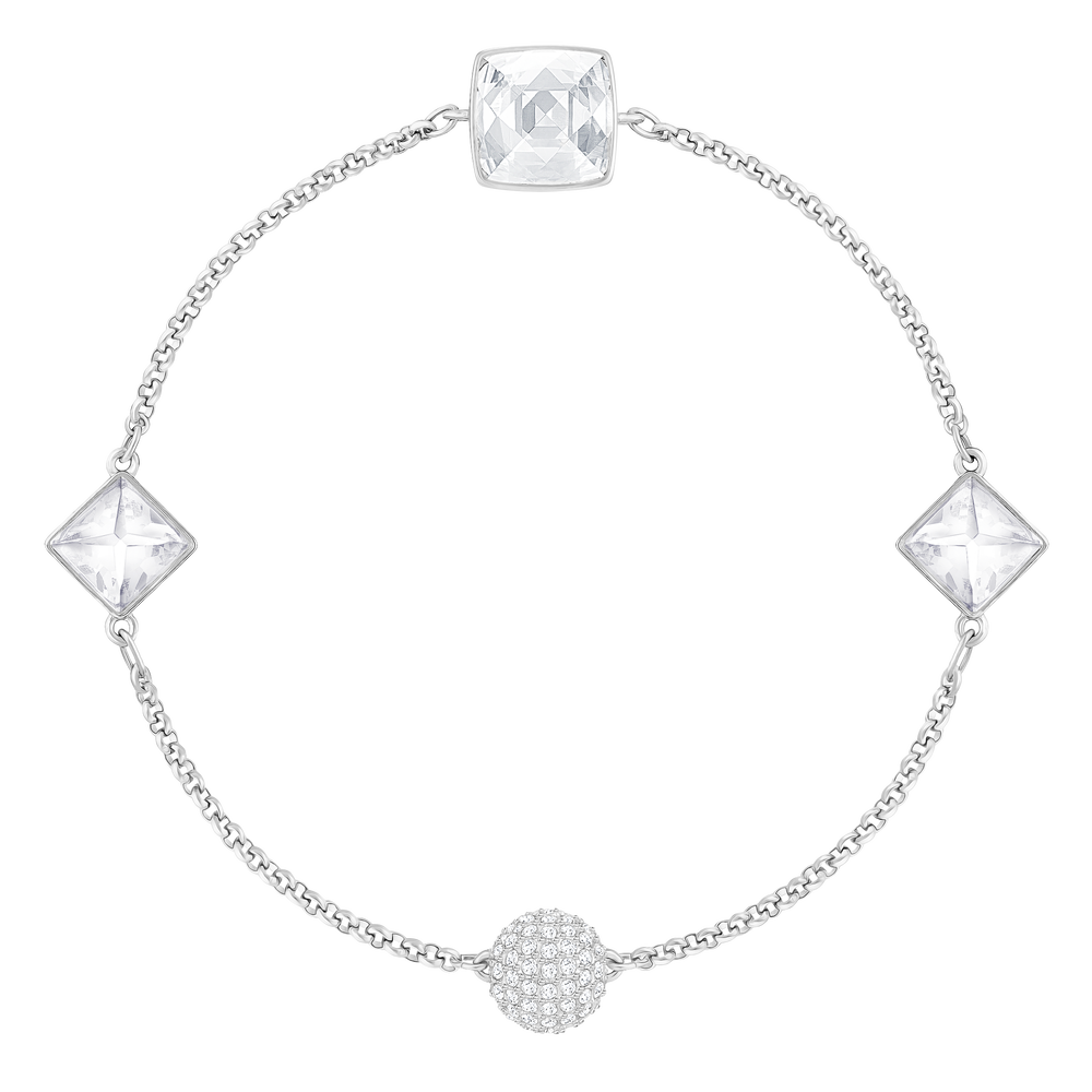 Swarovski Remix Collection Crystal Spike Strand, White, Rhodium plated