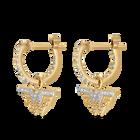 Fit Wonder Woman Hoop Pierced Earrings, Gold tone, Mixed metal finish