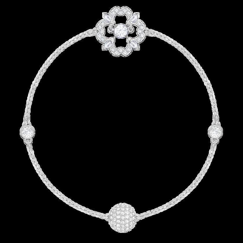 Swarovski Remix Collection Sparkling Dance Flower, White, Rhodium Plating