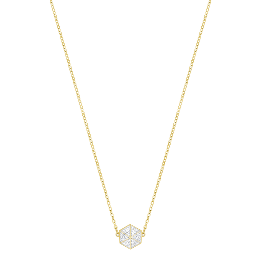 Lisabel Choker, White, gold-toned plated