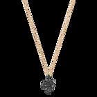 Leslie Pendant, Small, Black, Rose Gold Plating