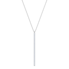 Only Y Necklace, White, Rhodium plating