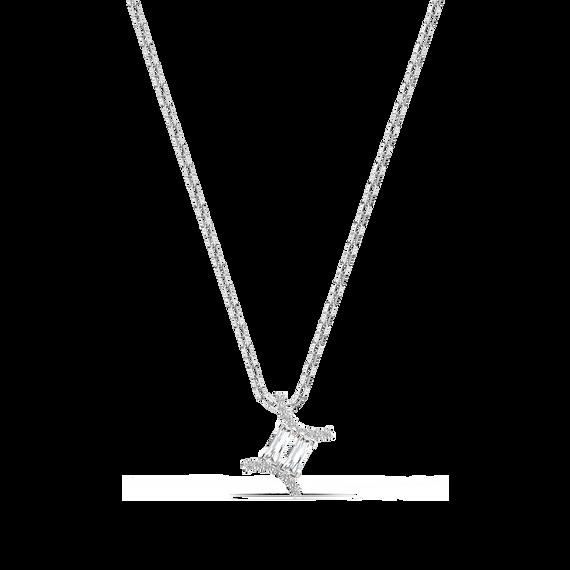 Zodiac II Pendant, Gemini, White, Mixed metal finish
