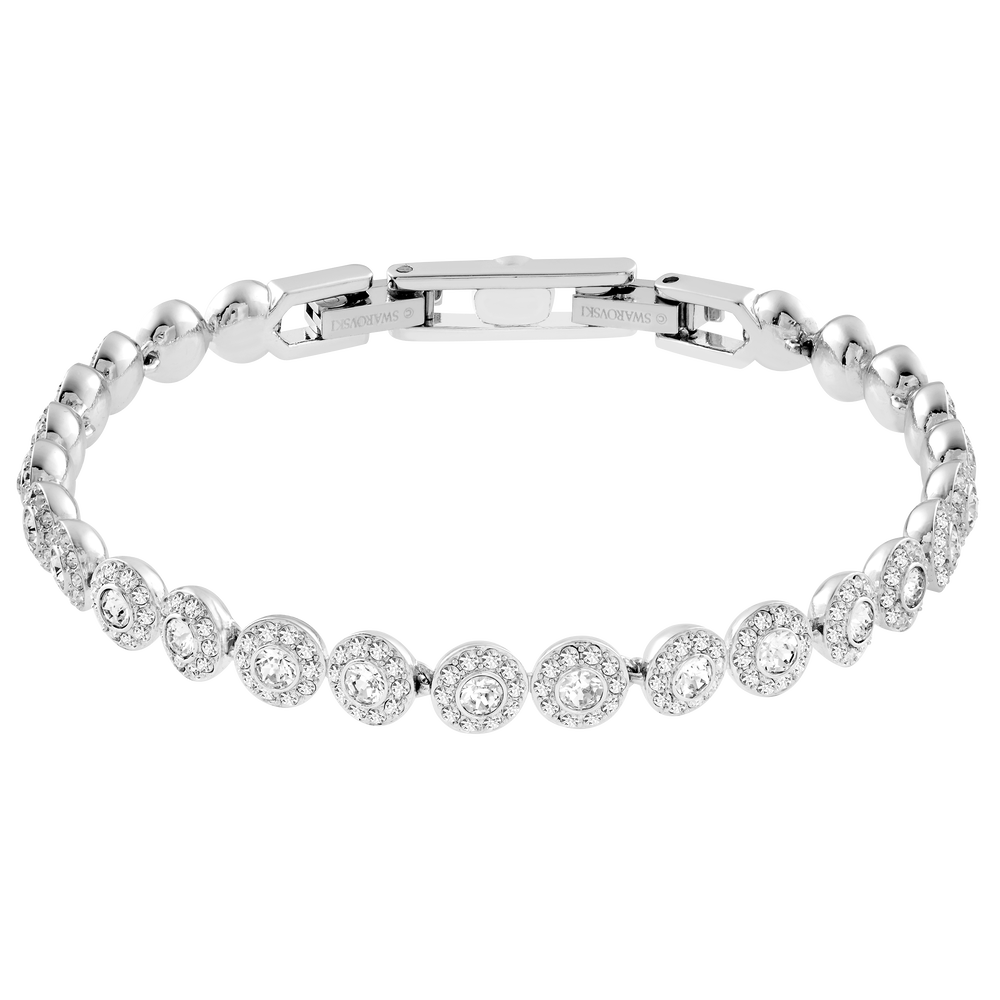 Angelic Bracelet, White, Rhodium Plating