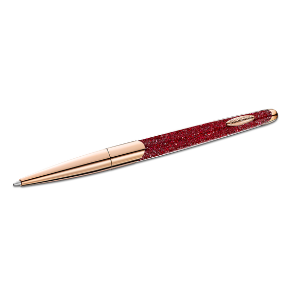 Crystalline Nova Ballpoint Pen, Red, Rose-gold tone plated