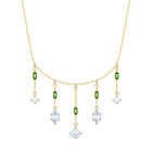 Oz Necklace, White, Gold plating
