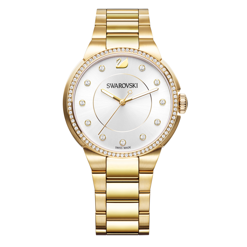 City Watch, Metal bracelet, White, Gold tone