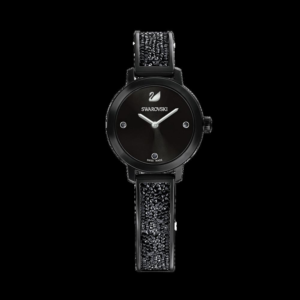 Cosmic Rock Watch, Metal Bracelet, Black