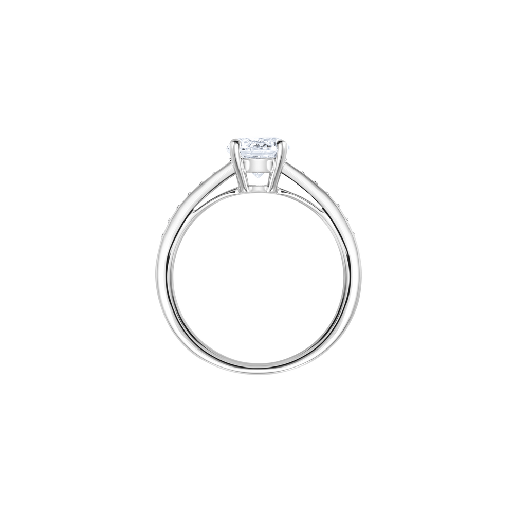 Attract Round Ring, Rhodium Plated