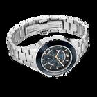 Octea Lux Chrono Watch, Metal bracelet, Black, Silver tone