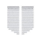 Fit Pierced Earrings, White, Palladium plated