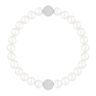 Swarovski Remix Collection Crystal Pearl Strand, White, Rhodium plated
