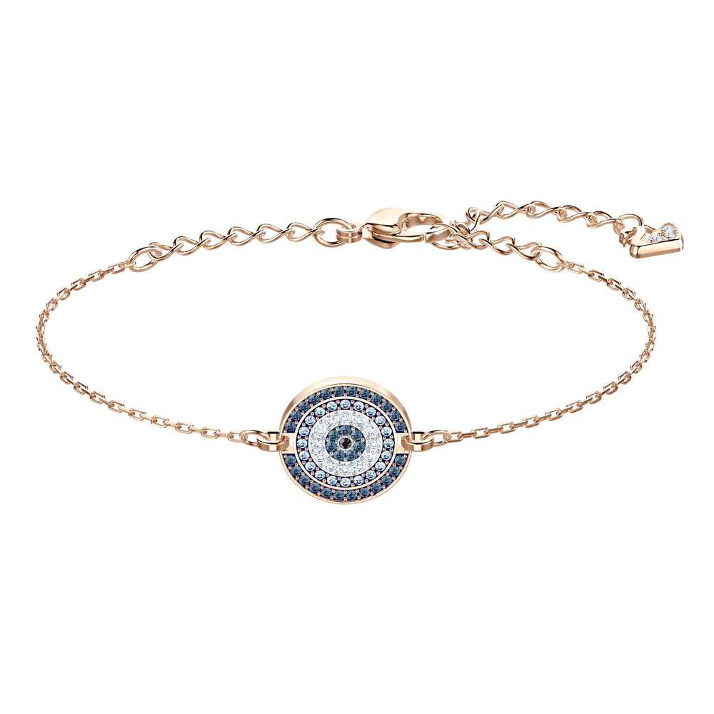 Luckily Bracelet, Multi-colored, Rose-gold tone plated