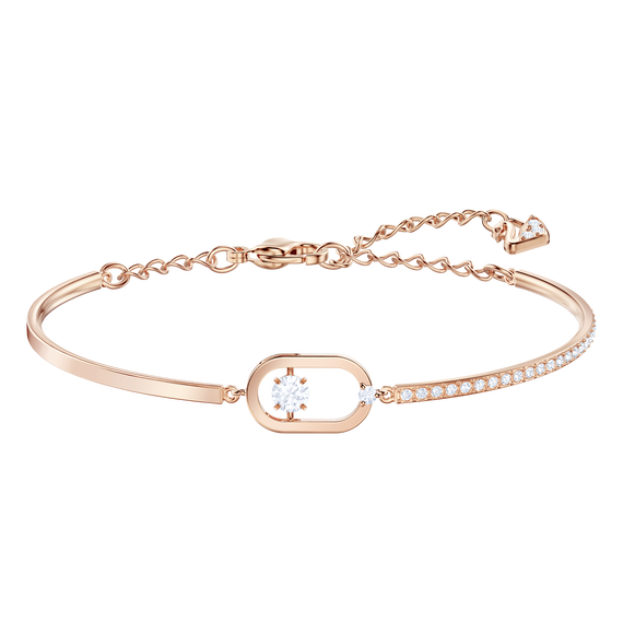 North Bracelet, White, Rose gold plating