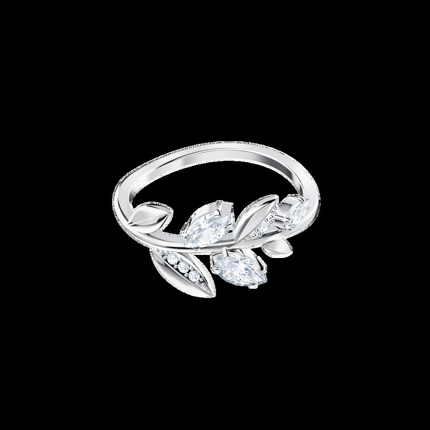 Mayfly Ring, White, Rhodium Plating