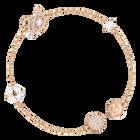 Dazzling Swan Bracelet, Multi-colored, Rose gold plating