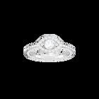 Luckily Evil Eye Ring, White, Rhodium plated