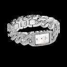 Cocktail Watch, Metal bracelet, Silver Tone, Stainless steel