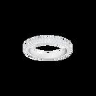 Stone Mini Ring, White, Rhodium Plating
