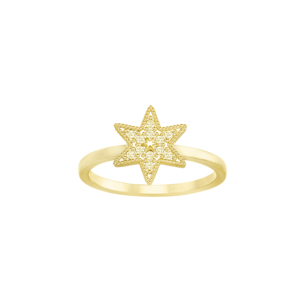 Field Star Ring, Golden, Gold Plating
