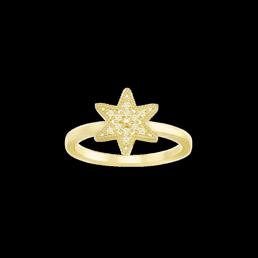 Field Star Ring, Golden, Gold Plating