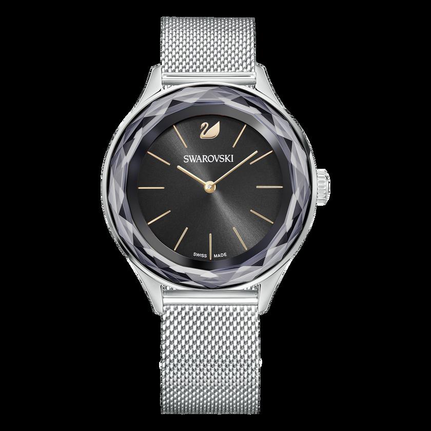 Octea Nova Watch, Milanese Bracelet, Black, Silver Tone