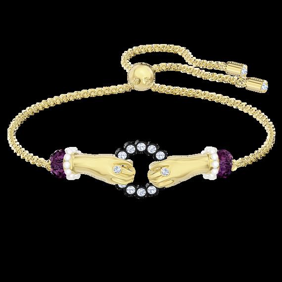 Tarot Magic Bracelet, Multi-colored, Gold-tone plated