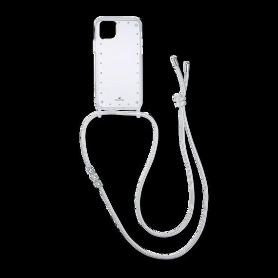 Swarovski Smartphone Necklace Case with Bumper, iPhone® 11 Pro, White