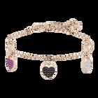 Ginger Bracelet, Multi-colored, Rose gold plating