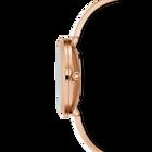 Crystalline Delight Watch, Metal Bracelet, White, Rose-gold tone PVD