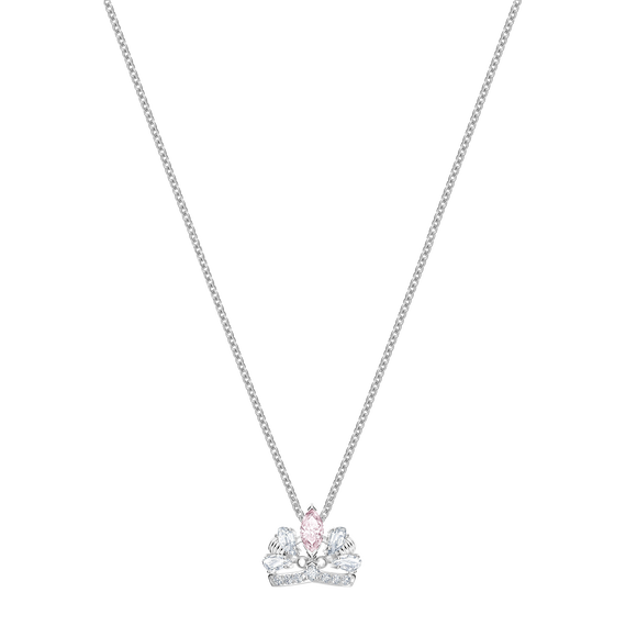 Bee A Queen Necklace, Pink, Rhodium plated