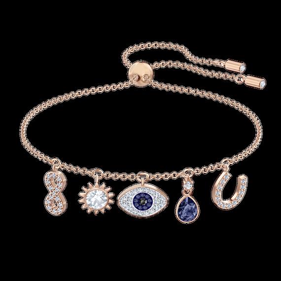 Swarovski Symbolic Bracelet, Multi-colored, Rose-gold tone plated