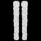 Creativity Pierced Earrings Long, White, Rhodium Plating