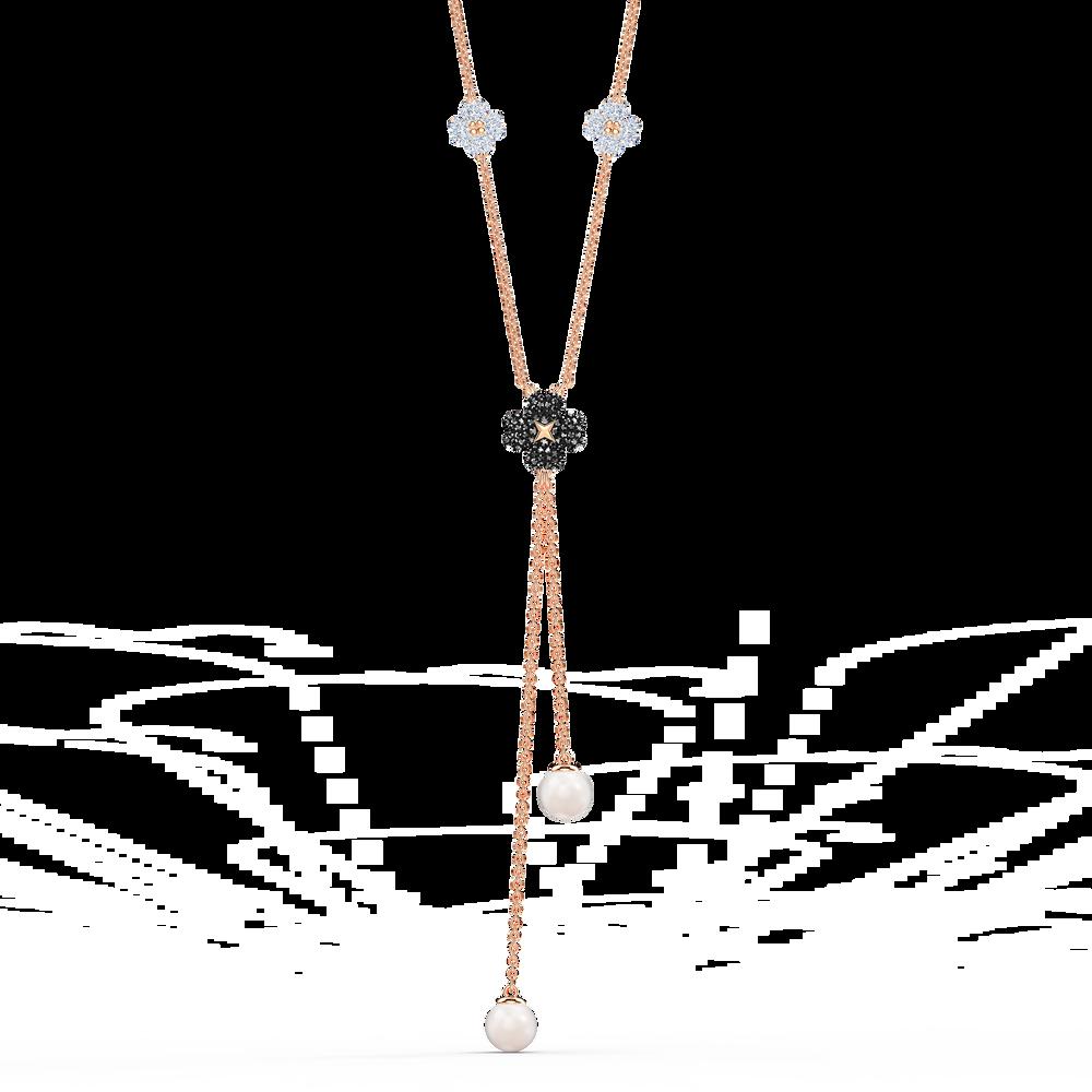 Buy Swarovski Latisha Y Necklace Black Rose Gold Tone Plated In Dubai Abu Dhabi Uae 5516428
