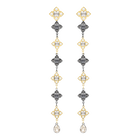 Millennium Pierced Earrings, Multi-colored, Mixed metal finish