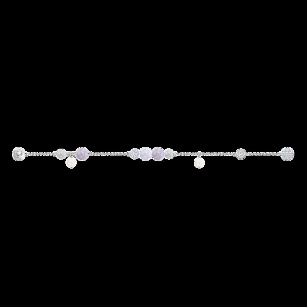 Swarovski Remix Collection Pearl Strand, Medium, Multi-colored, Rhodium plating