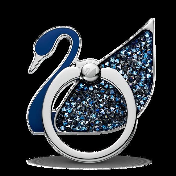 Swan Ring Sticker, Blue, Stainless steel