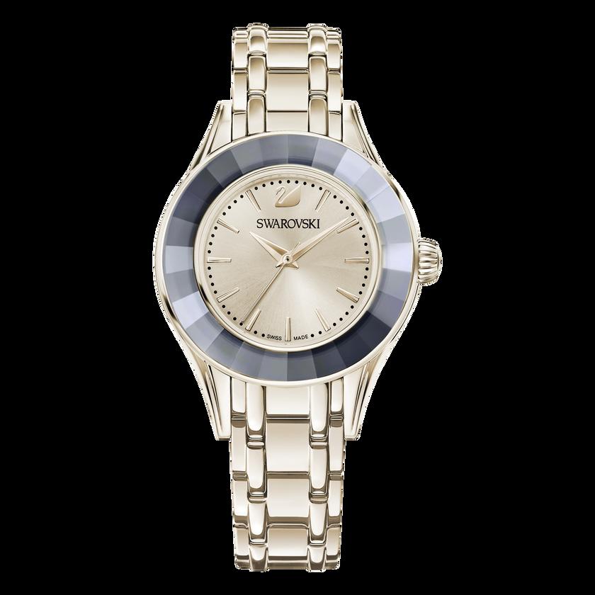 Alegria Watch, Metal bracelet, Golden, Champagne gold tone PVD