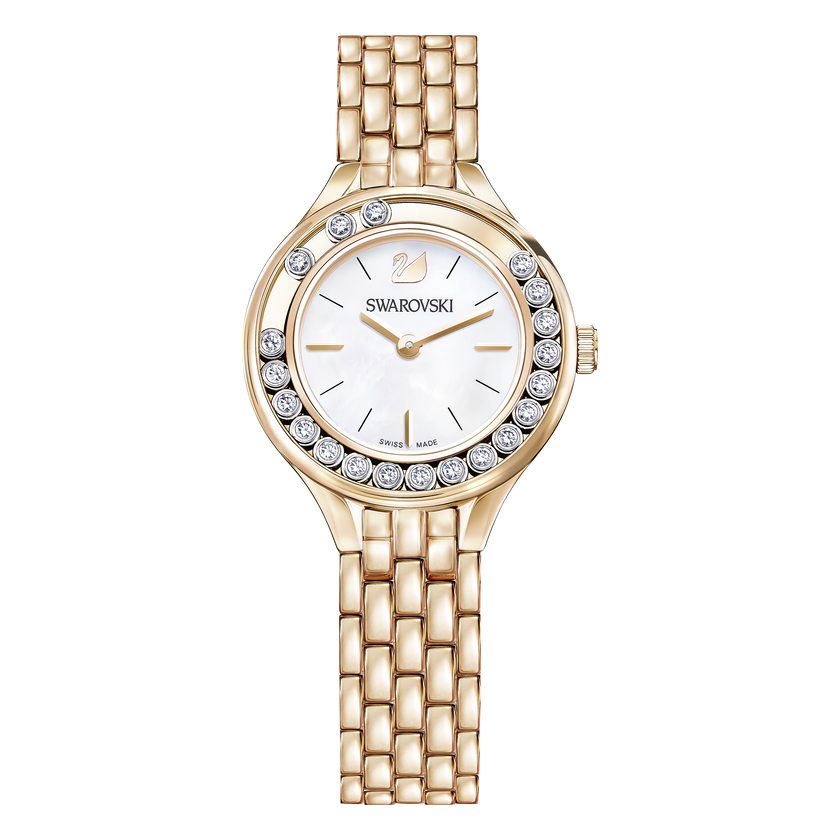 Lovely Crystals Mini Watch, Rose Gold Tone