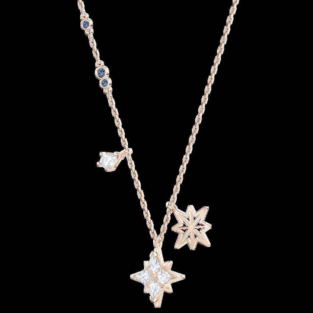 Swarovski Symbolic Star Pendant, White, Rose-gold tone plated