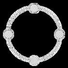 Swarovski Remix Collection Disk Strand, White, Rhodium plated