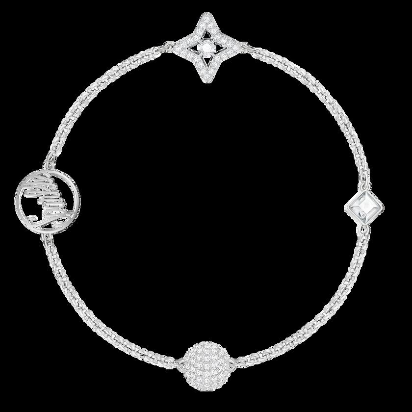 Swarovski Remix Collection Star Strand, White, Rhodium plated
