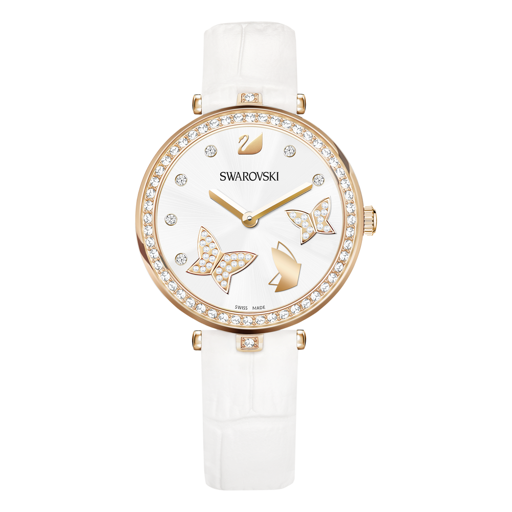 Aila Dressy Lady Watch, Butterfly, Rose Gold Tone